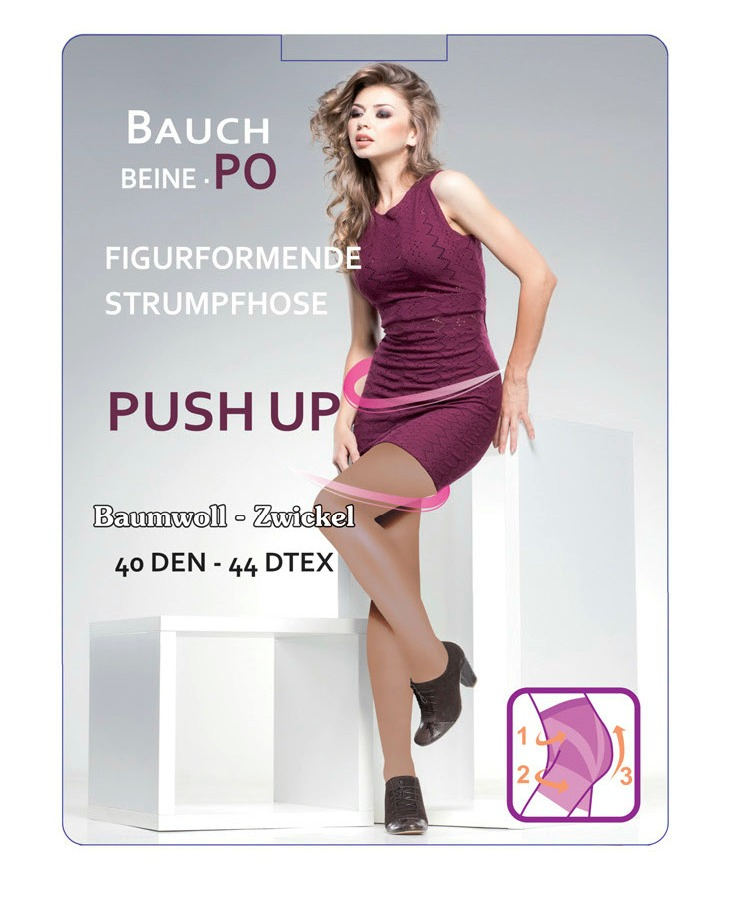 2 Paar Push Up-Strumpfhose, 40 den