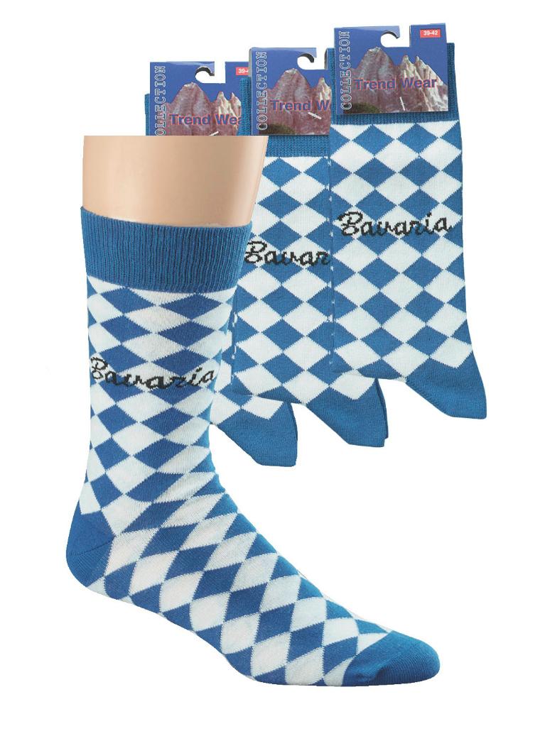 """6 Paar Motto-Socken """"Bavaria"""" für Damen und Herren"""