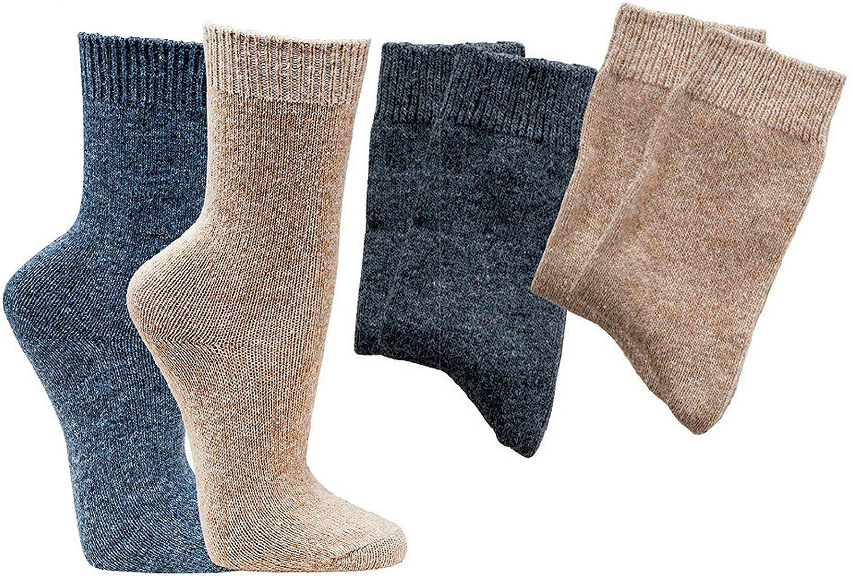 2 Paar Socken mit Kaschmirwolle, supersoft und kuschelig